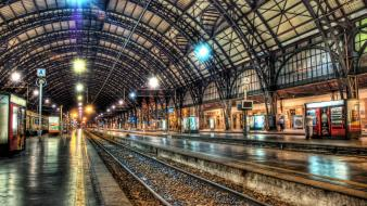 Hdr photography train stations wallpaper