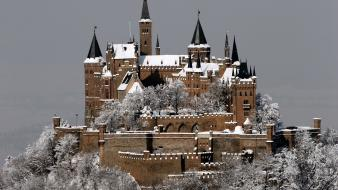 Hohenzollern castle architecture buildings castles snow Wallpaper