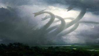 Hydra magic the gathering digital art fantasy wallpaper
