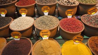 Istanbul sultanahmet turkey shop spices wallpaper