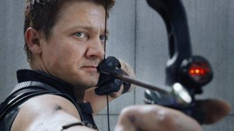 Jeremy renner the avengers movie bow weapon wallpaper
