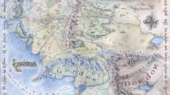 Jrr tolkien middleearth the lord of rings maps wallpaper