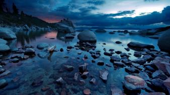Lakes landscapes nature stones water wallpaper
