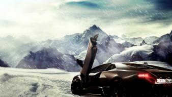 Lamborghini reventon artwork black cars butterfly doors wallpaper