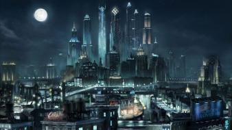 Moon saints row 2 artwork cityscapes futuristic wallpaper