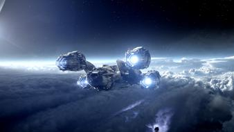 Prometheus clouds future shuttle space wallpaper