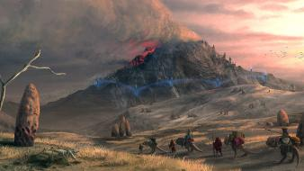 Scrolls iii morrowind caravan fantasy art landscapes wallpaper