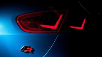 Seat leon cars taillights wallpaper