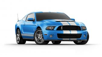Shelby gt500 grabber blue white stripes cars Wallpaper