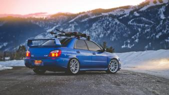 Subaru impreza wrx sti cars mountains wallpaper