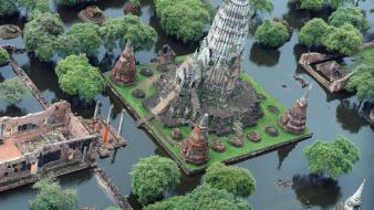 Thailand temples water Wallpaper
