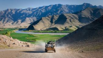Afghanistan landscapes men military mountains wallpaper