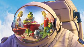 Aliens planet 51 astronauts movies space suits wallpaper