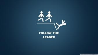 Artwork blue funny leader quotes wallpaper