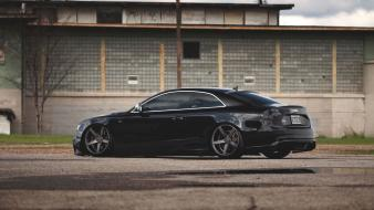 Audi s5 black cars house wallpaper
