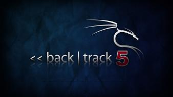 Backtrack 5 blue wallpaper
