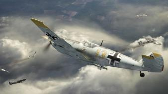 Bf109 nazi supermarine spitfire aircraft battle of britain wallpaper