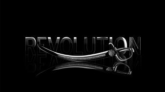 Black background revolution swords wallpaper