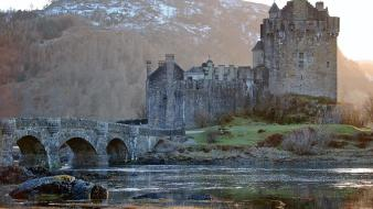 Buildings castles landscapes rivers wallpaper