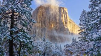 California national park yosemite landscapes winter wallpaper