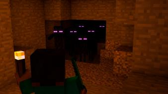 Cinema4d endermen minecraft caves nightmare Wallpaper