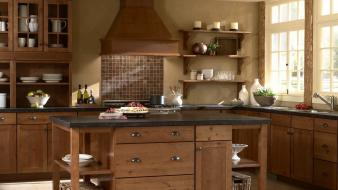 Cityscapes design interior kitchen wallpaper