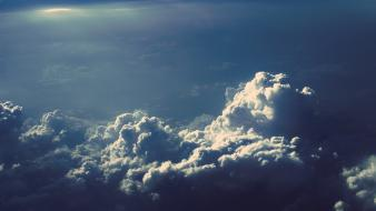 Clouds shadows skyscapes wallpaper