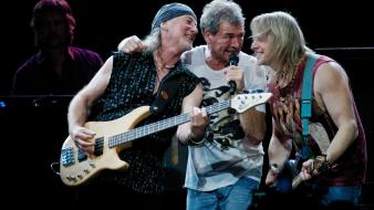 Deep purple concert guitarists guitars hard rock wallpaper