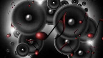Digital art music sound speakers wallpaper