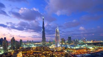 Dubai cityscapes colors light long exposure wallpaper