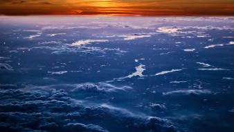 Earth sun atmosphere clouds horizon wallpaper