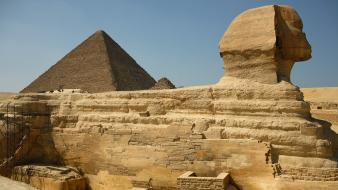 Egypt the great sphinx ancient pyramids Wallpaper