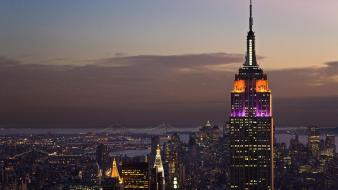 Empire state building cityscapes skylines skyscrapers wallpaper