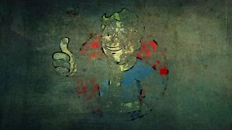 Fallout vault boy grunge video games wallpaper