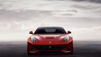 Ferrari f12 berlinetta cars clouds front wallpaper