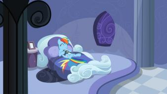Friendship is magic rainbow dash beds books wallpaper
