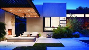 Garden house modern wallpaper