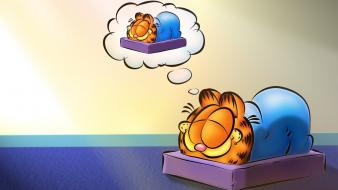 Garfield artwork cats dreams funny wallpaper