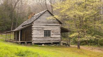 Great smoky mountains national park tennessee bud cabin wallpaper