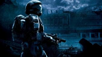 Halo odst digital art soldiers video games wallpaper
