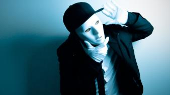 Hats masks men tie white mask Wallpaper