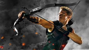 Hawkeye jeremy renner the avengers movie bow weapon wallpaper