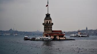 Istanbul buildings sea Wallpaper