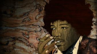Jimi hendrix artwork digital art photo manipulation pop wallpaper