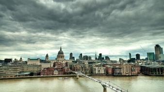 London architecture buildings cityscapes clouds wallpaper