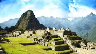 Machu picchu cityscapes Wallpaper