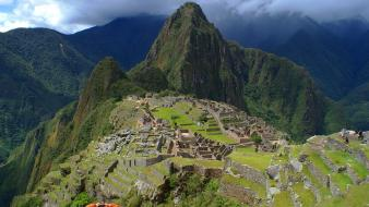 Machu pichu architecture cityscapes landscapes mountains Wallpaper