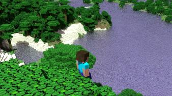 Minecraft steve beaches jungle tapeta wallpaper