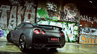 Nissan gtr cars graffiti matte wall wallpaper