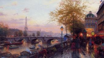 Paris allée artwork paintings watches Wallpaper